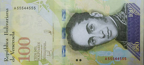 Banknote with 6 digits of-a-kind serial number, binary serie, bookend serial number (2 digits), bookend serial number (3 digits) and radar serial number
