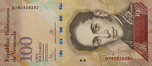 Banknote with Repeater serial number (2 digits) and binary serie
