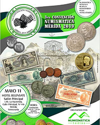 Poster of the 3rd Numismatic Convention of Merida, May 2019