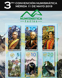 Souvenir poster of the 3rd Numismatic Convention of Merida, May 2019