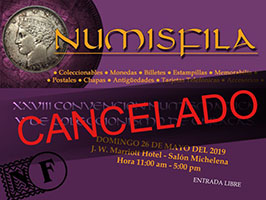 Poster of the XXVIII Numismatic and Collecting Convention of Caracas, May 2019
