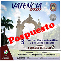 Poster of the 3rd Numismatic and Collecting Convention of Valencia, March 2020