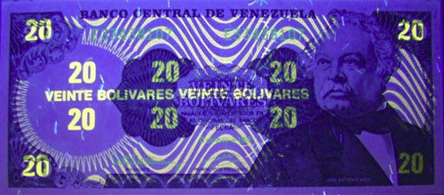 Piece bbcv20bs-fe01-e8 (Obverse, under ultraviolet light)