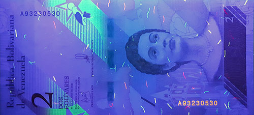 Piece bbcv2bss-aa01-a8 (Obverse, under ultraviolet light)