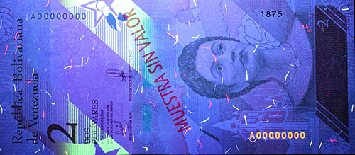 Piece bbcv2bss-aa01s (Obverse, under ultraviolet light)