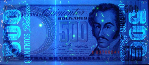 Piece bbcv500bs-ea03-e8 (Obverse, under ultraviolet light)