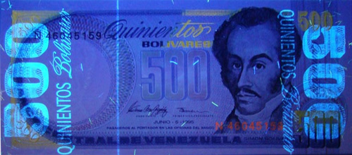 Piece bbcv500bs-eb01-n8 (Obverse, under ultraviolet light)