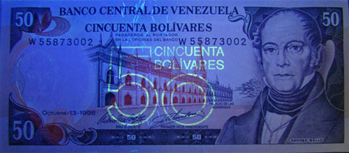 Piece bbcv50bs-ee01-w8 (Obverse, under ultraviolet light)