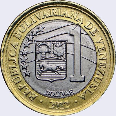 Monedas de Venezuela : 1 Bolívar Fuerte : Catálogo Numismático de ...
